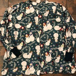 Jackets & Blazers - Christmas scrub lab coat jacket size xl
